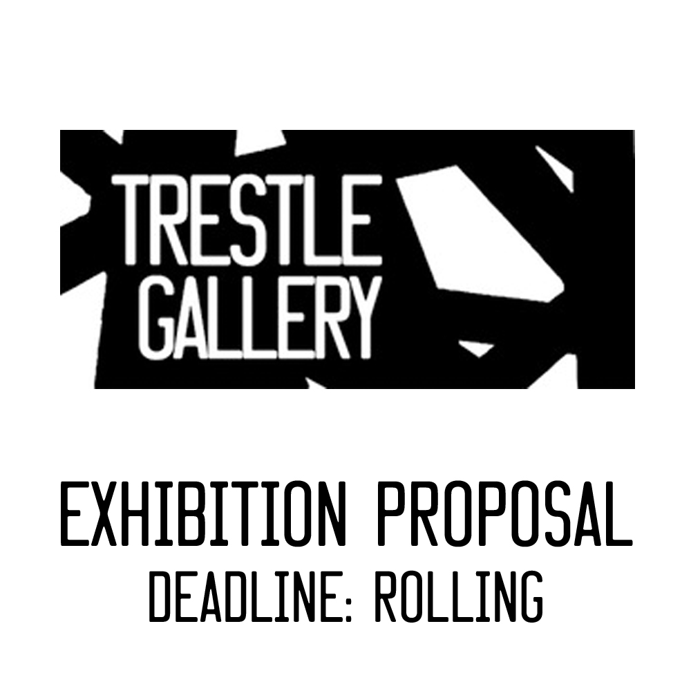 Artists and curators are invited to submit proposals for group exhibitions at Trestle (three artists or more). Current submissions will be considered for the 2019-2020 calendar.   Click   here   for Trestle Gallery's floor plan.    Note: Due to the volume of exhibition proposal submissions, we are unable to send any form of response or feedback. No hard copy submissions are accepted.