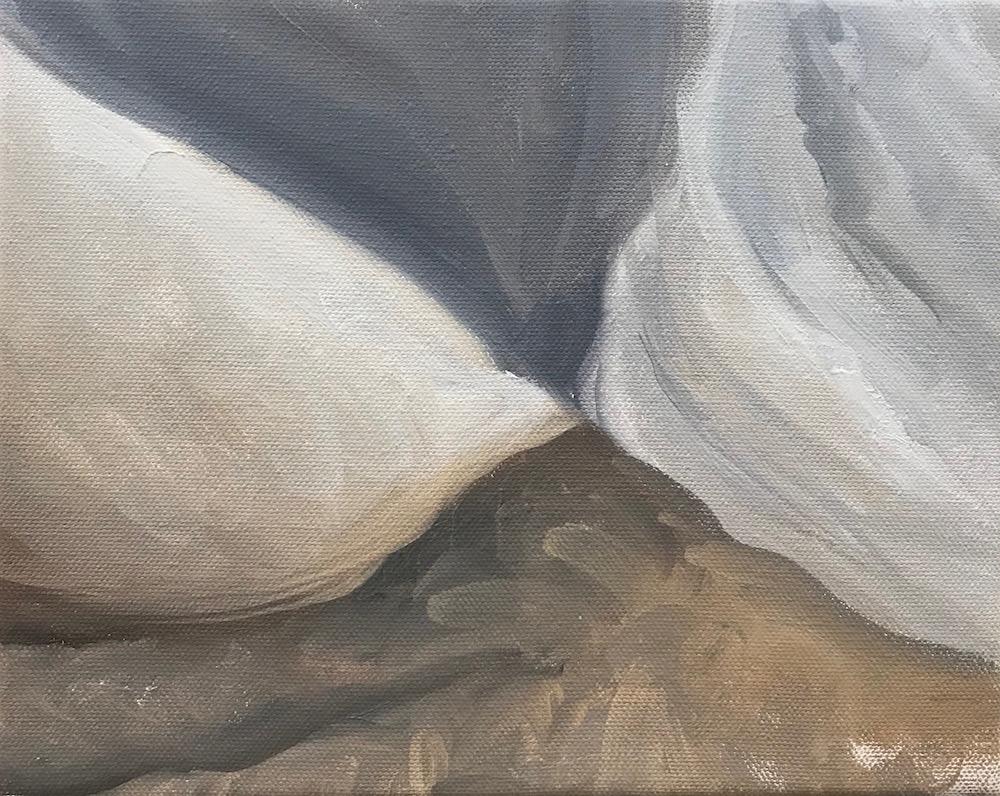 Kat Deiner  Closing Over, Breaking Open,  2017 Oil on canvas 8 x 10 in.
