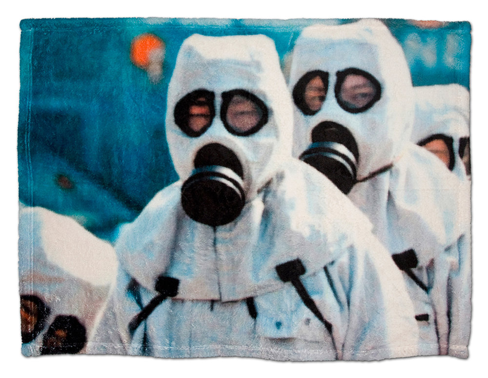 Anita Cruz-Eberhard & David Howe, Security Blankets, 2018, digital image printed on super-soft fleece, 30 x 40 in. (view 1)