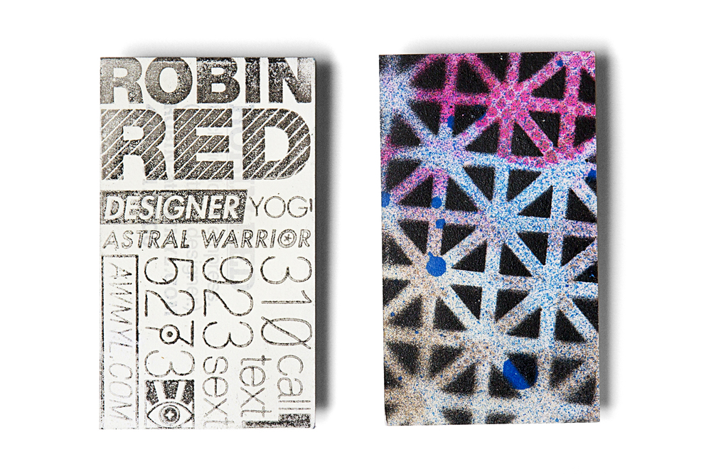 Robin Redd Stamped Stencil business cards
