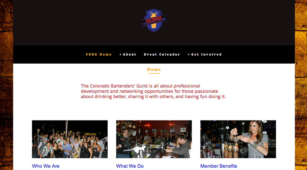 Colorado Bartenders' Guild Website
