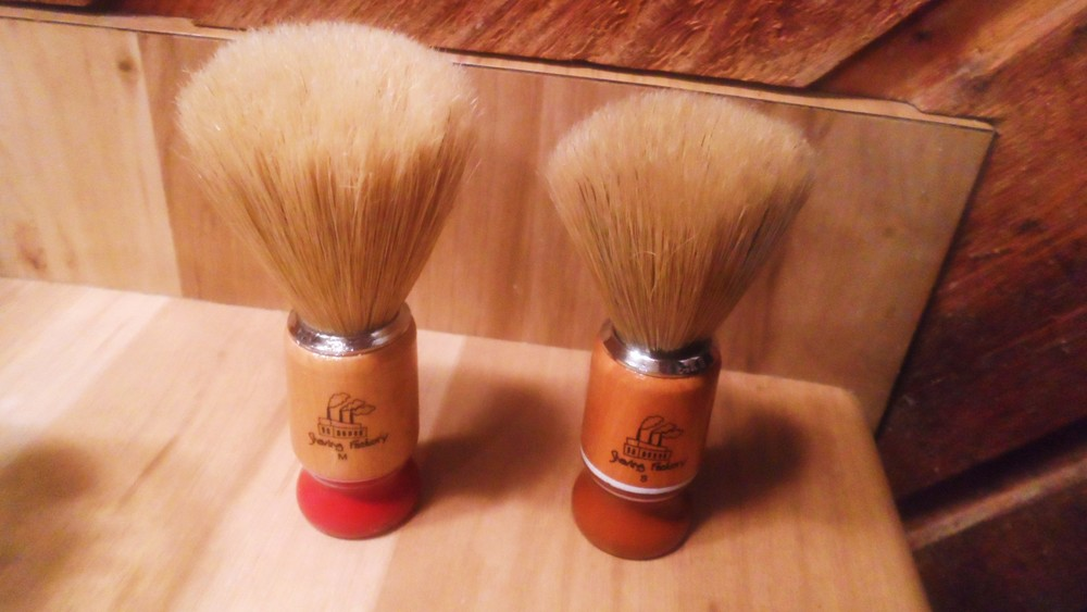 Shave Factory Medium and Small Boar Shaving Brushes (Pre-Wash & Conditioning)