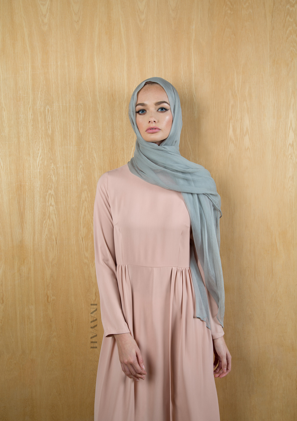 Dusky Pink Maxi with Skirt Overlay