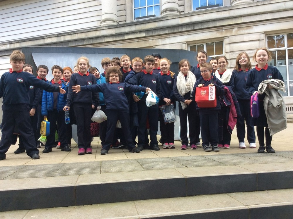 "P6/7 trip to ""Lotions, Potions and Explosions"" workshop at the Ulster Museum."