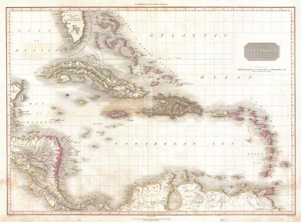 Pinkerton map of the West Indies was used for our open world.