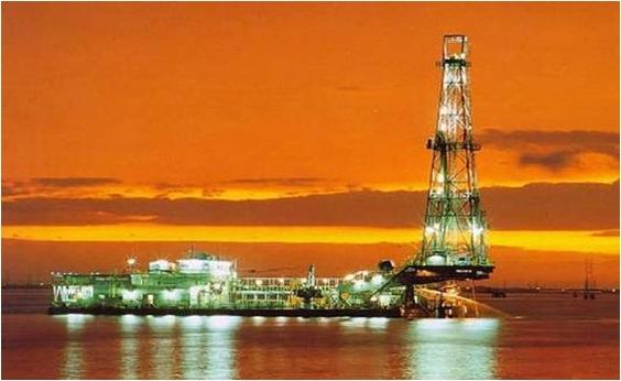 Drilling Barge, Lake Maracaibo, Venezuela