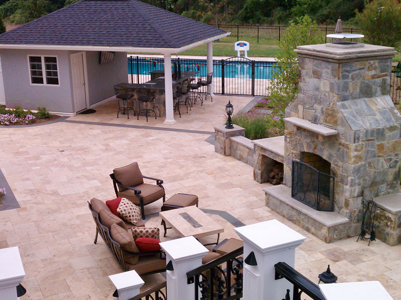 Glenelg Residence Patio & Fireplace