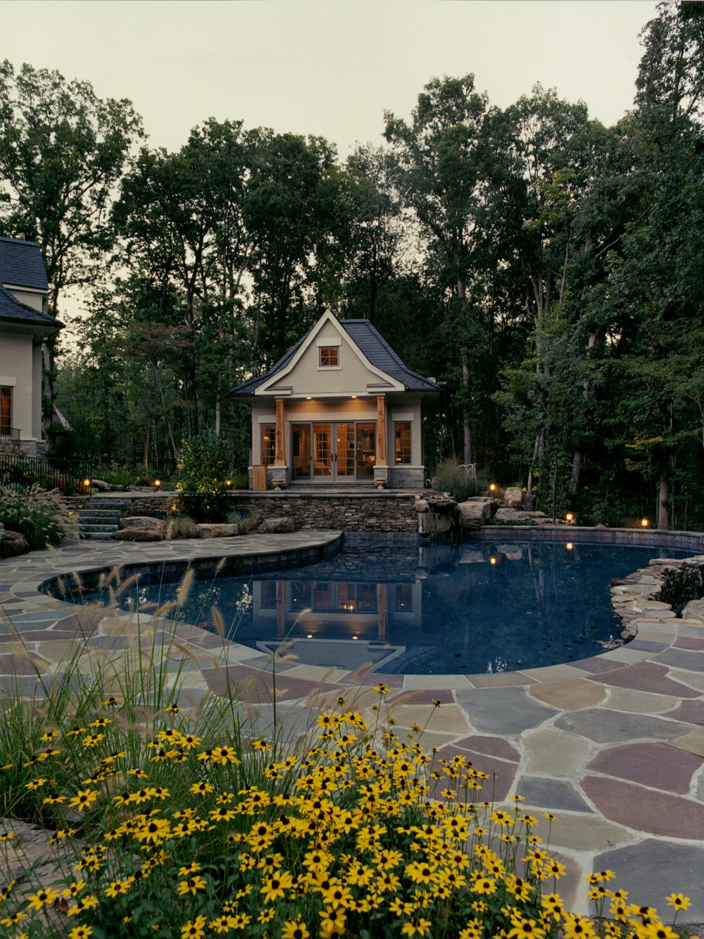 Poolhouse and Custom Pool Deck