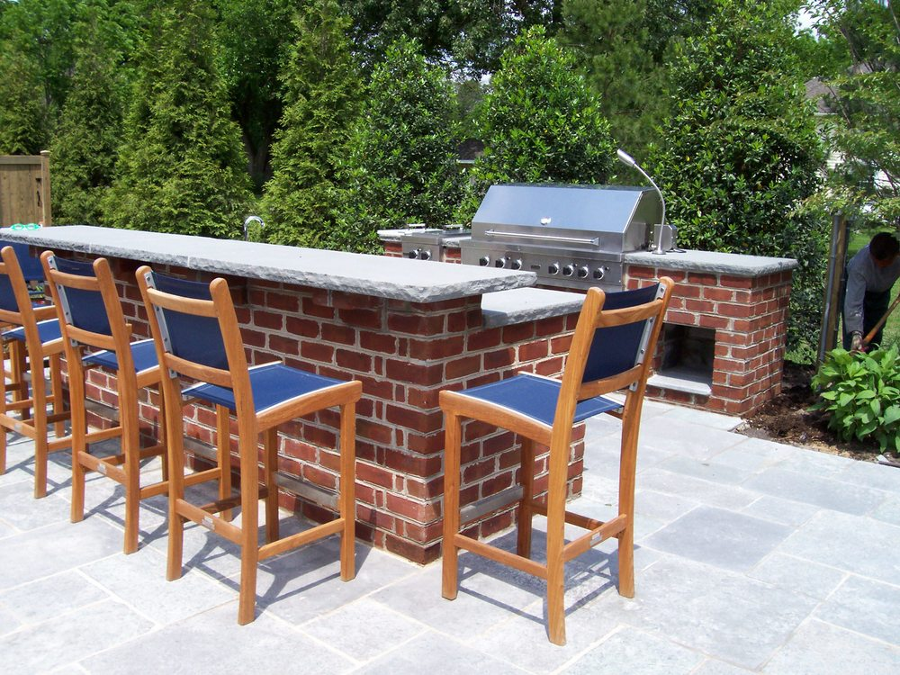 Outdoor Kitchen and Elevated Bar Top, St Michael's Maryland
