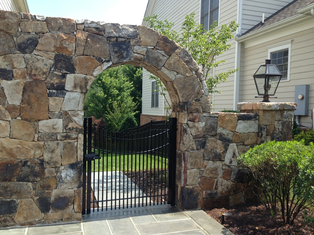 Stone Arch Entry Way