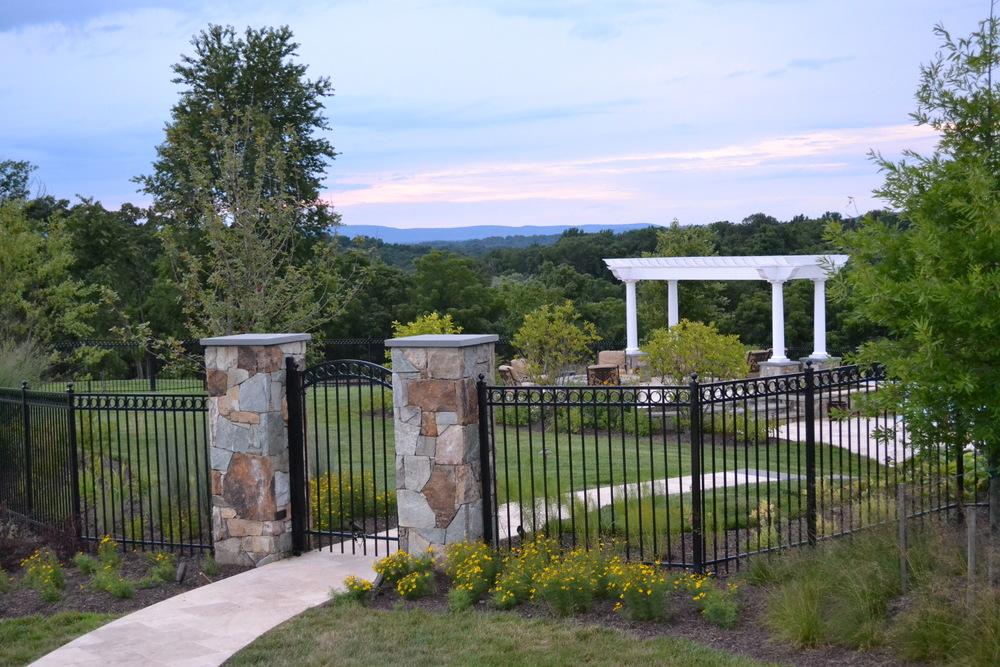 Aldie Residence Entry Columns & Plantings