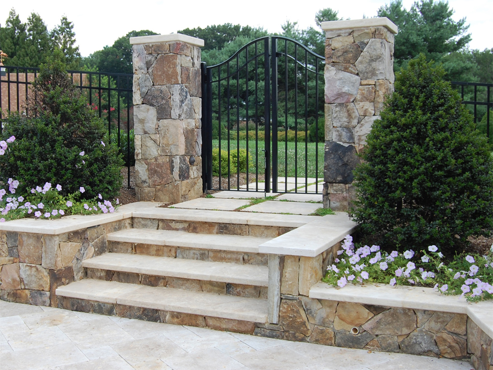 Oakton Residence Entry Columns & Stairs
