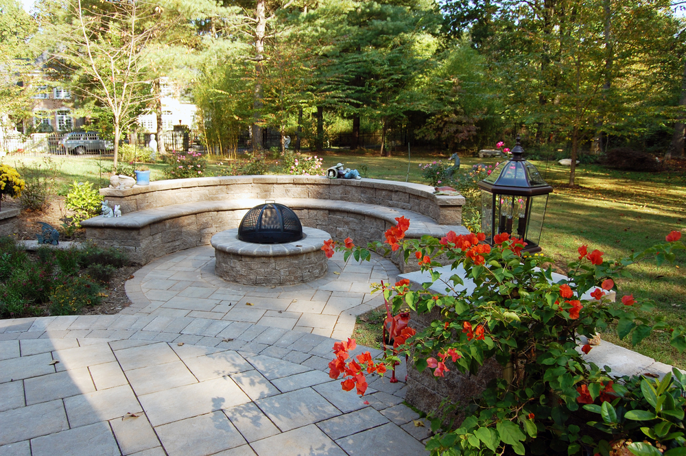 Great Falls Residence Firepit & Seating Area