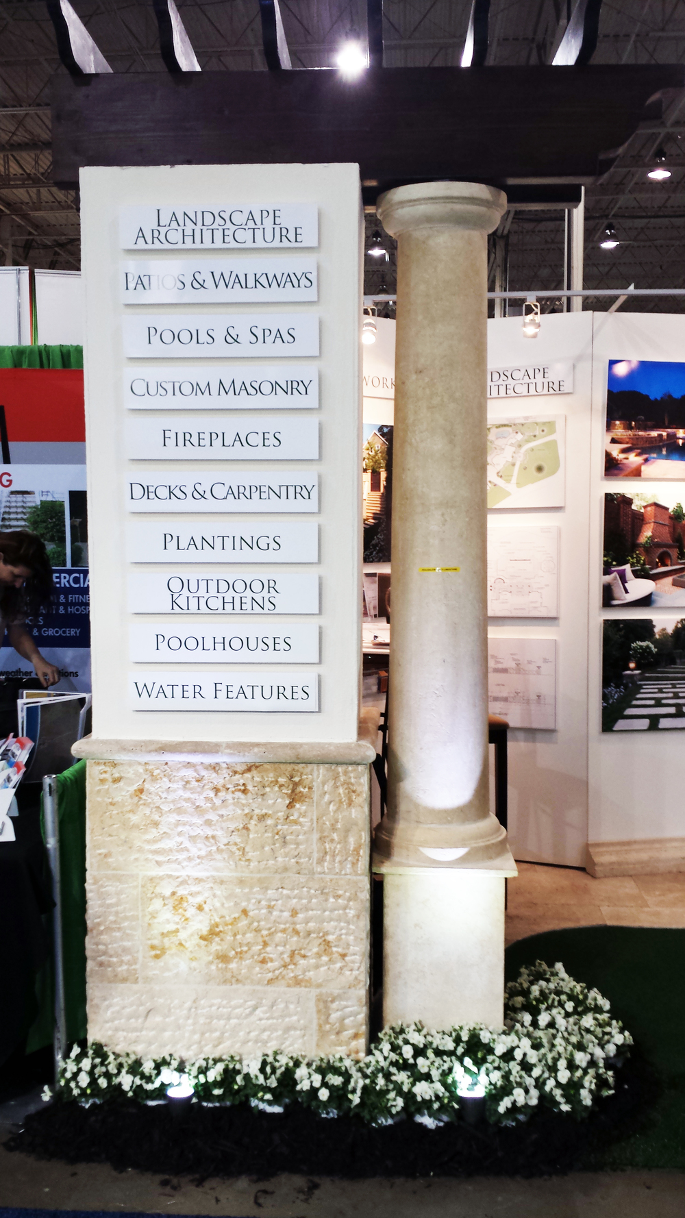 Natural Jerusalem Limestone pillar and base.