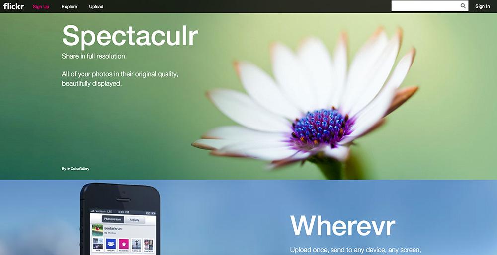 Flickr.com - ny forside og super lækkert nyt design