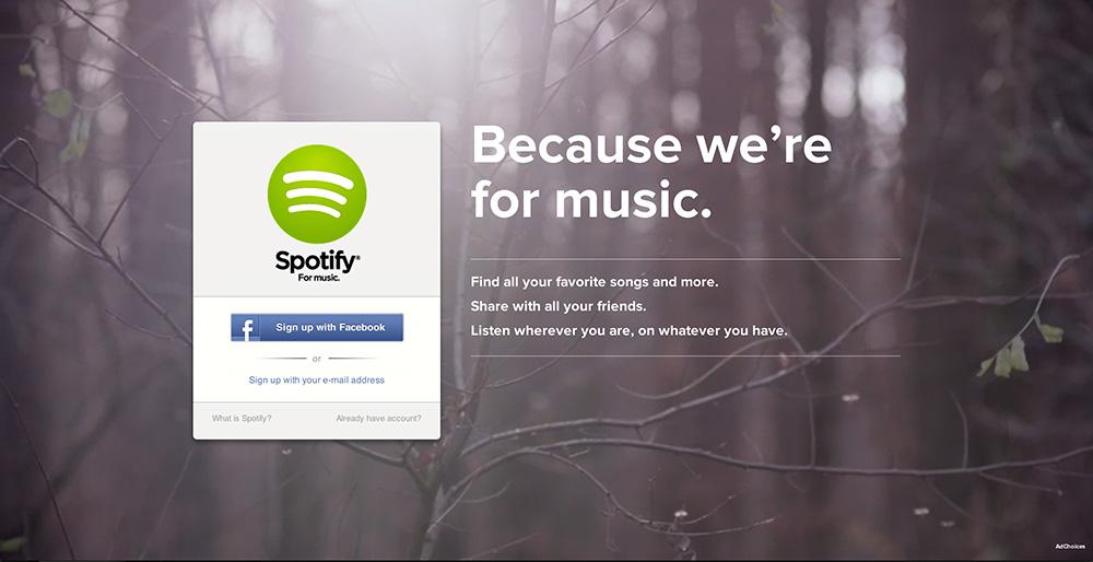 Spotify.com - Helt enkelt.
