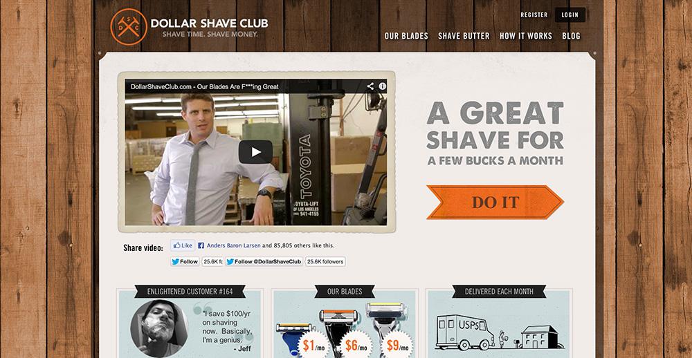 Dollarshaveclub.com - Min yndlingsvirksomhed