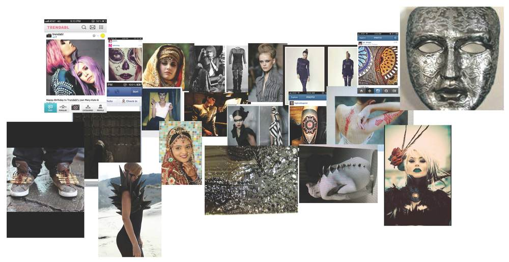 Autumn / Winter's 2013 Future East Collection inspiration board.  Images shown are not the original creations of House of 5th.