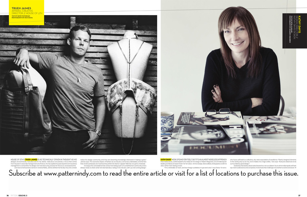 Creative Director, Truen Jaimes, interviewed for Pattern Magazine's international SS14 issue.