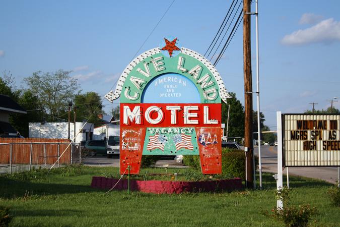 Cave Land Motel sign Kentucky