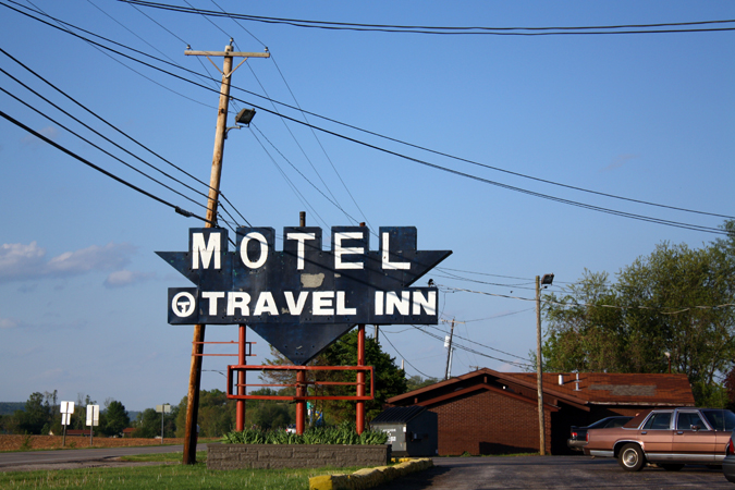 Motel Travel Inn sign Cave City Kentucky