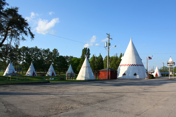 teepees in Cave City Kentucky