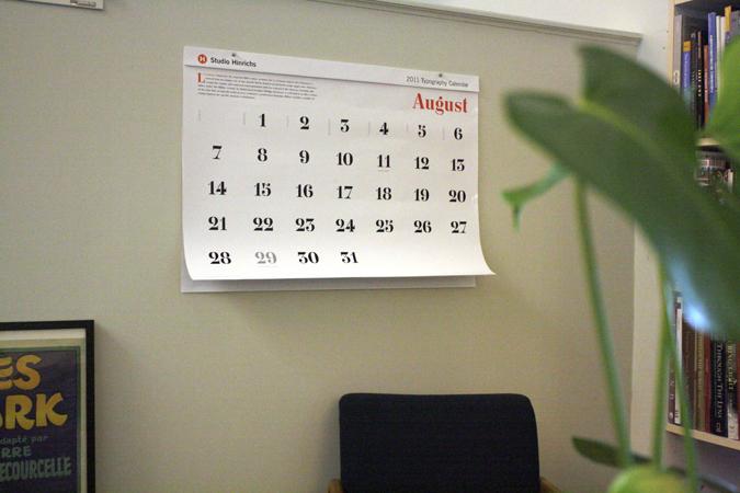 Pentagram calendar
