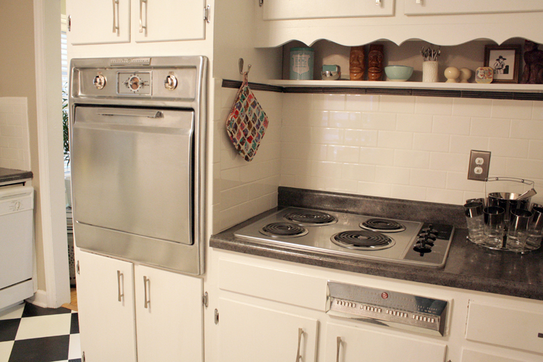 GE 1957 built-in oven