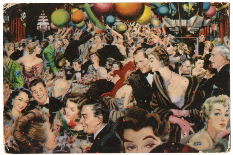 Stork Club postcard illustration by Albert Dorne