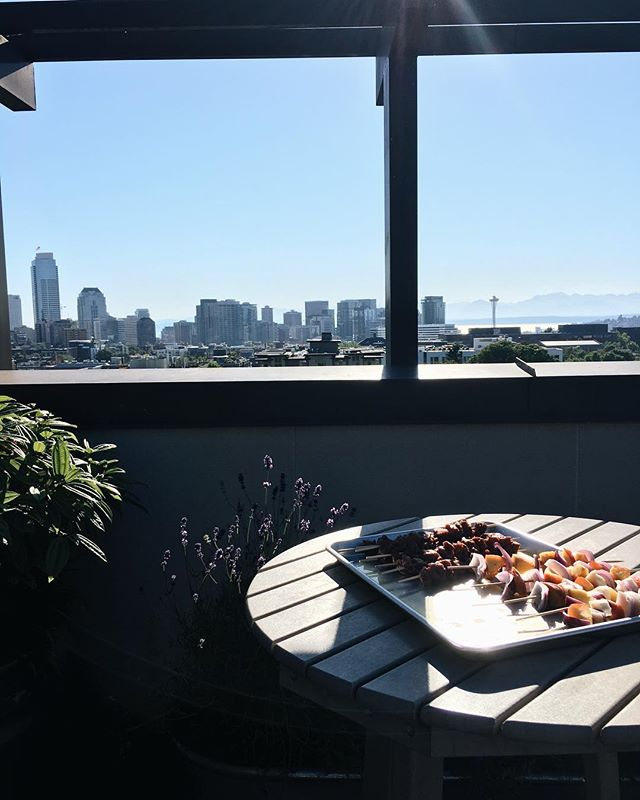 Finally summer in Seattle, and this grilling situation is how we're setting ourselves up for success.