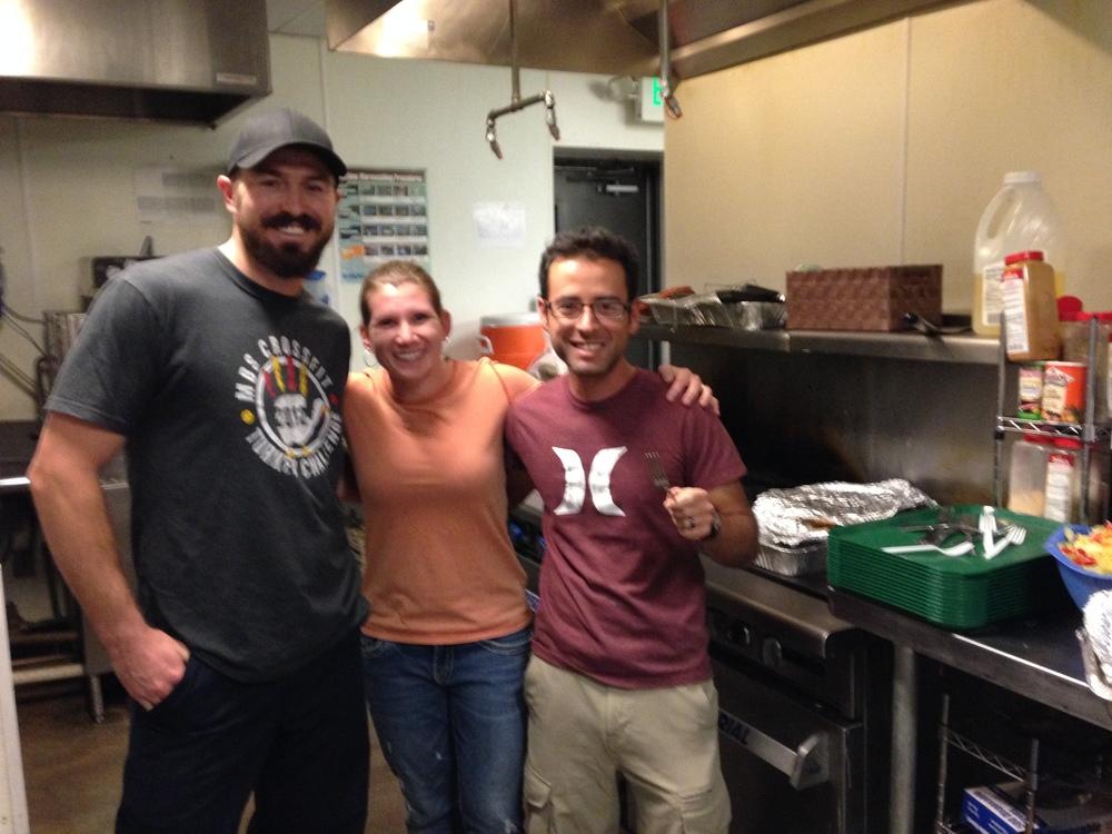 CFP athletes doing community work for homeless teenagers in Denver.