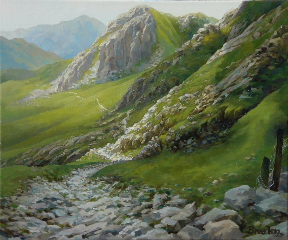 The Pyg Track, Mt. Snowdon, Wales (Oil on canvas, 20 x 24 in.)