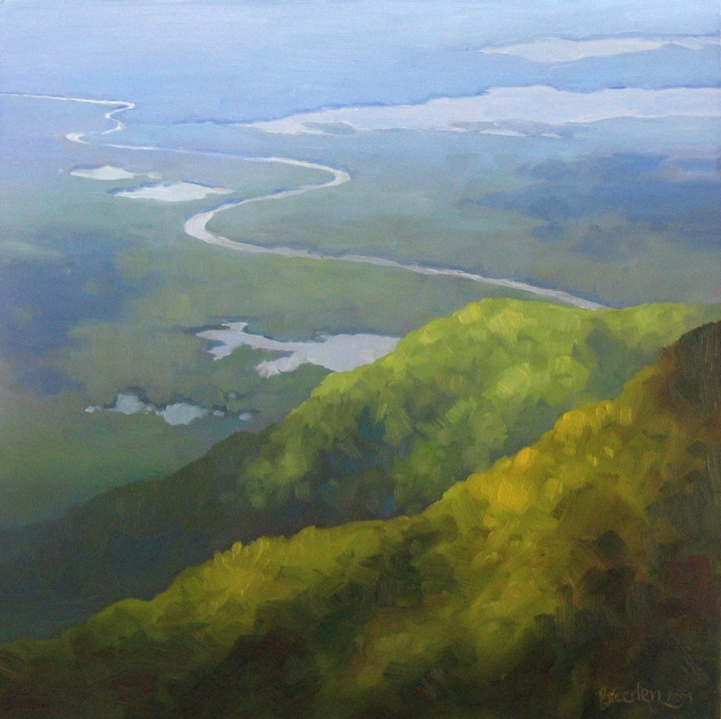 The View from Mt. Chocorua (Oil on panel, 12 x 12 in.)