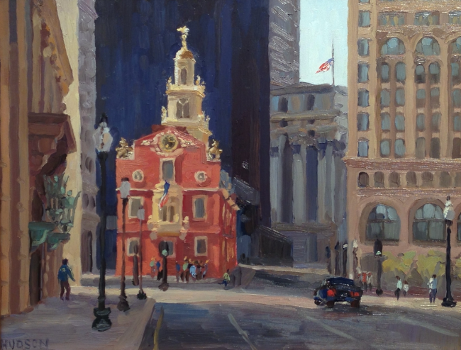 The Old State House, Boston (Oil on panel, 11 x 14 in.)