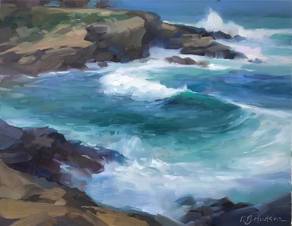 La Jolla Cove  (2017) Oil on linen panel, 9 x 12 in.  plein air