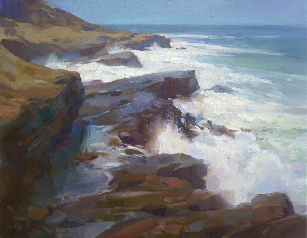 Morning, Point Loma  (2017), Oil on linen panel, 11 x 14 in.  plein air