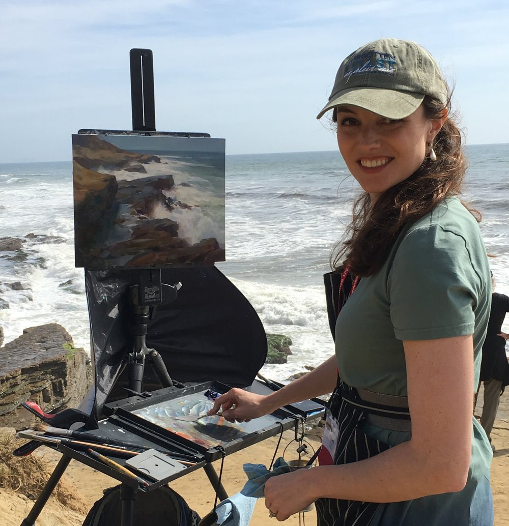 Painting at Point Loma (Photo: fellow artist Jack Dant)