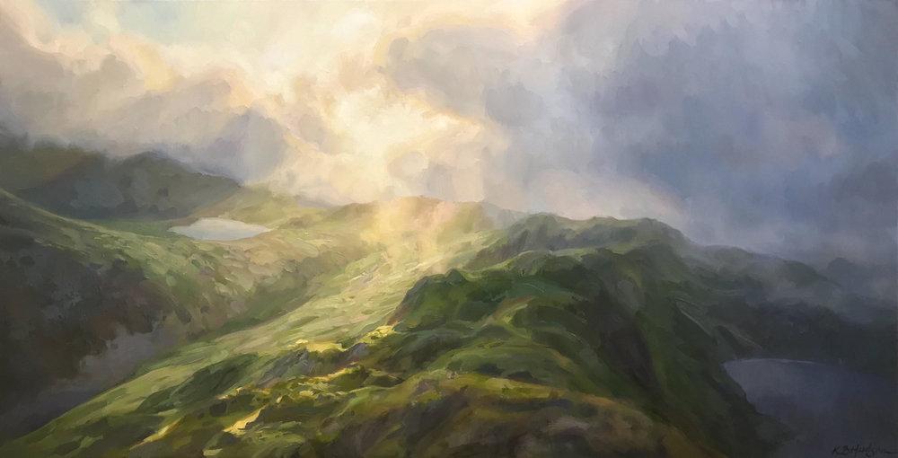 Light on the Land , oil on linen, 24 x 48 in.