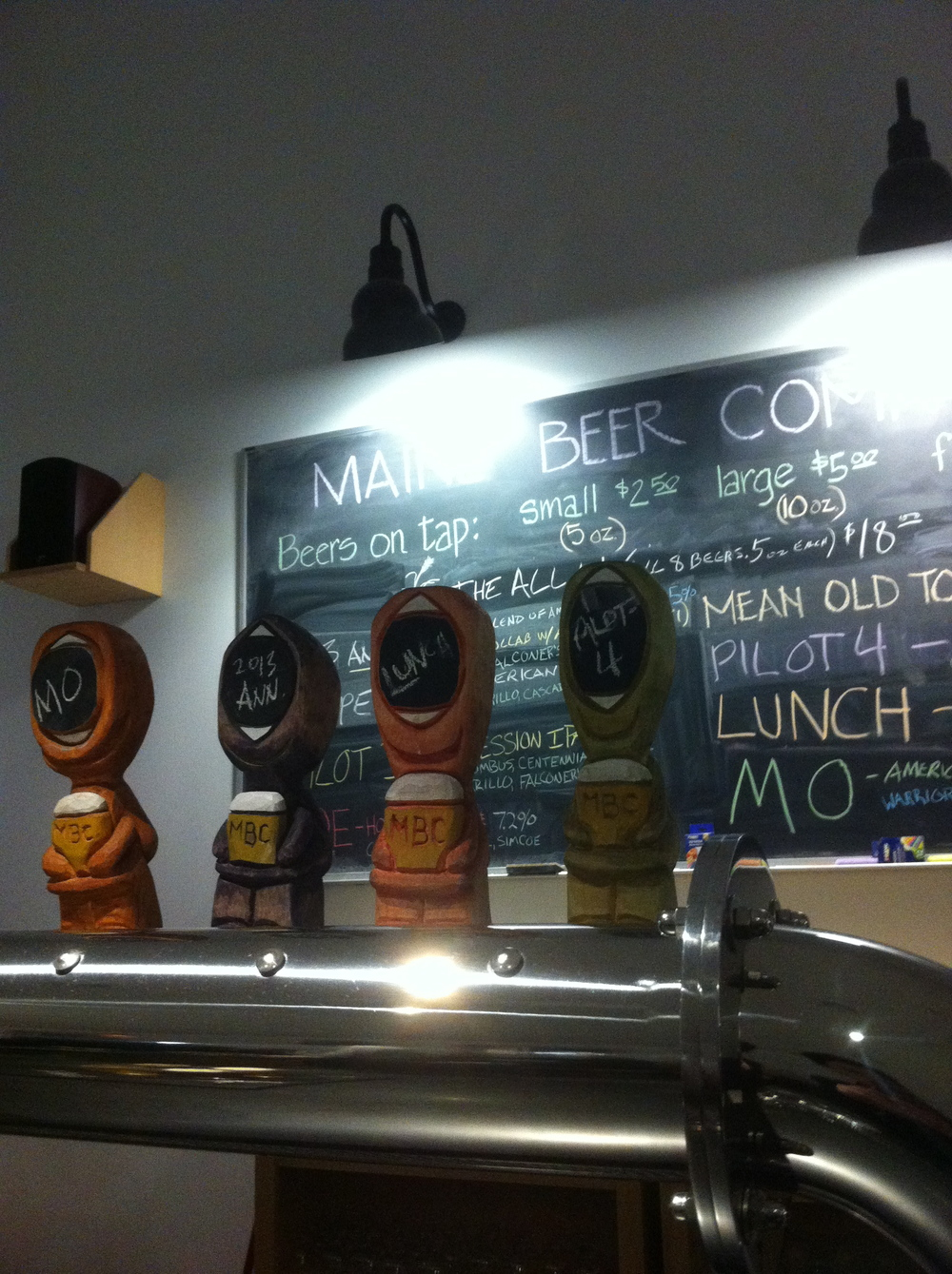 The taproom with adorable tap handles, Maine Beer Company, Freeport