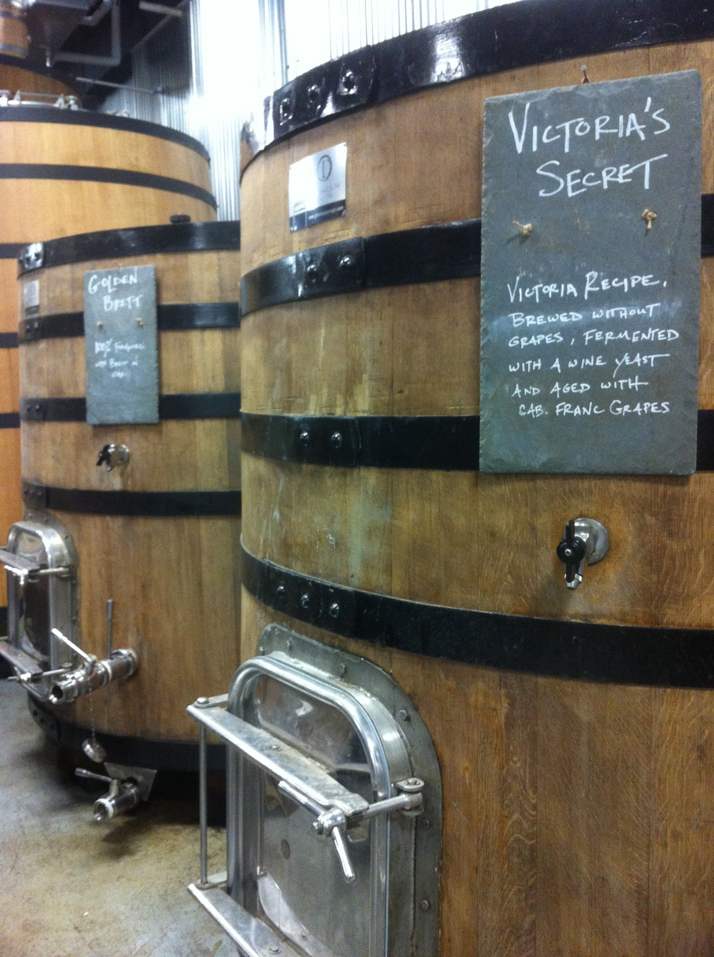 More pics inside the wild barrel room, Allagash Brewing Company, Portland