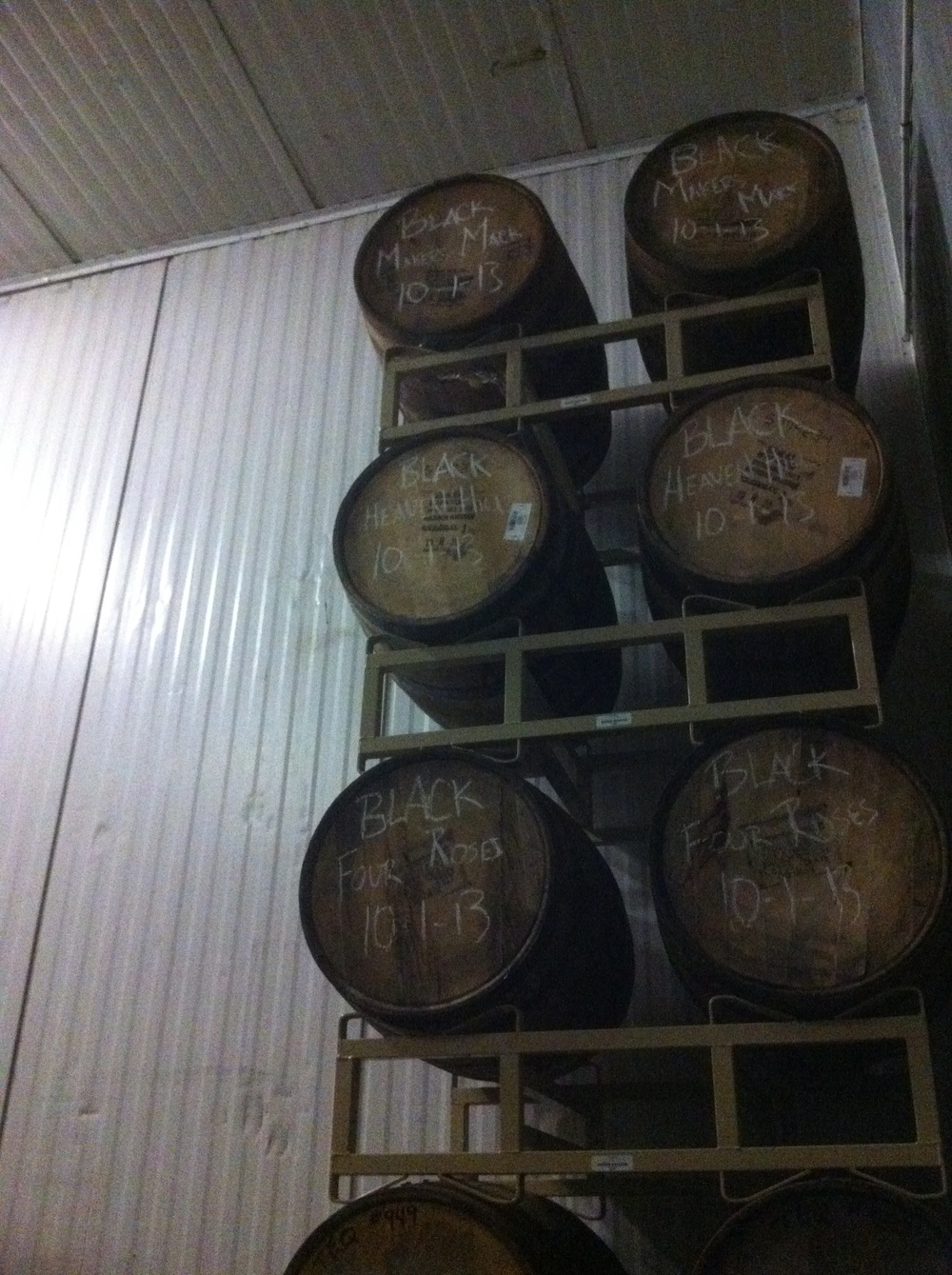 The barrel aging room at Allagash, Allagash Brewing Company, Portland