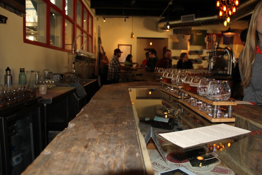 Tap room, Allagash Brewing Co, Portland