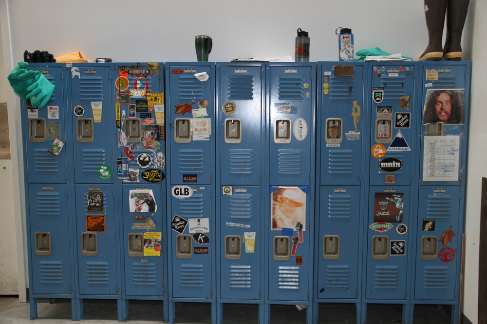 The Allagash crew's wacky lockers, Portland