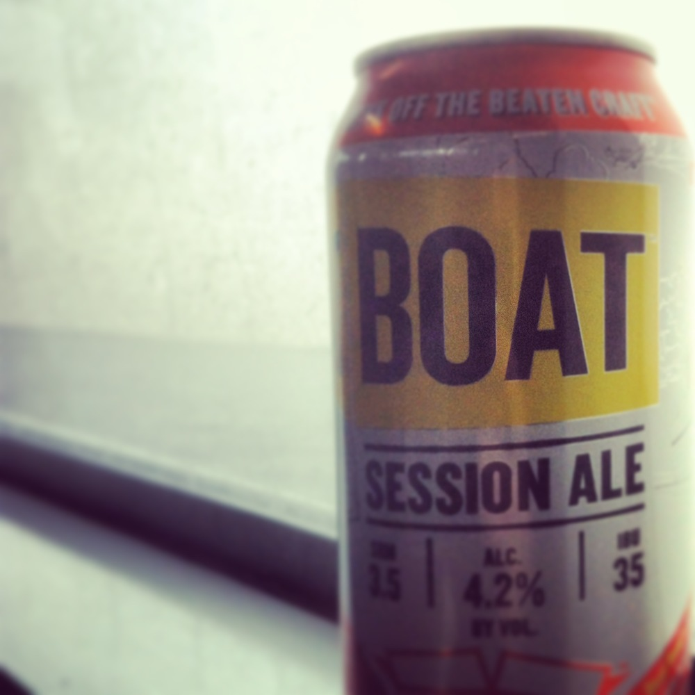 Enjoying a Boat Beer on my boat back to the city.