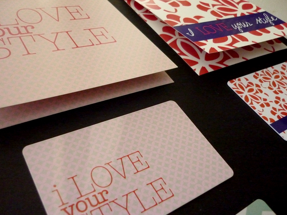 Gift cards i designed for DownEast Outfitters for the Valentine's Day season.