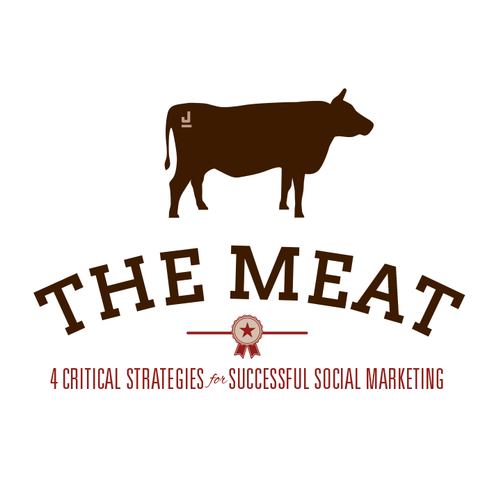 A logo concept I created for a workshop discussing ways to get to the meat of social marketing.