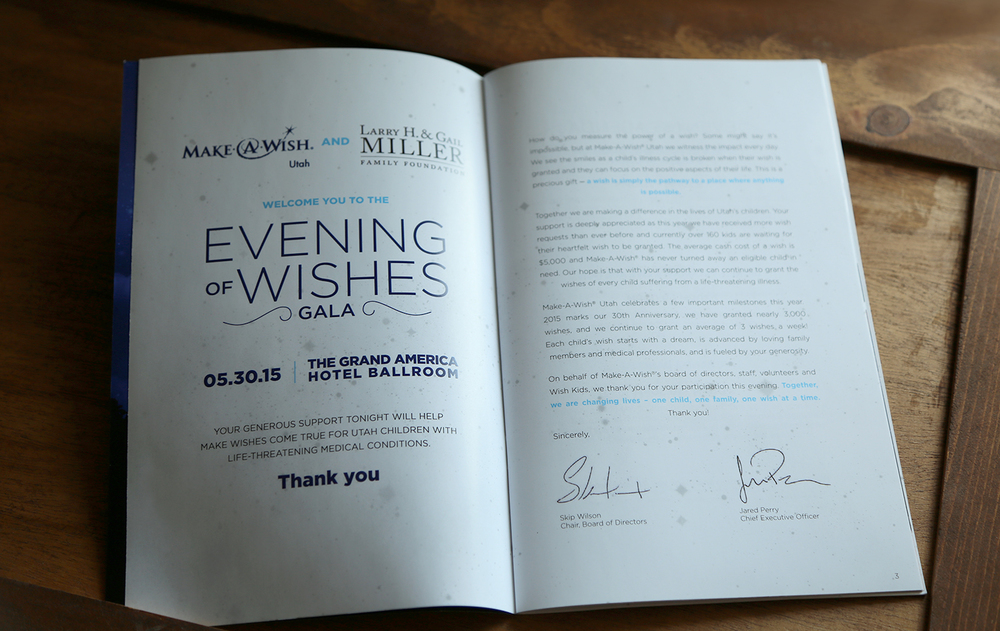 Make-A-Wish Gala Booklet