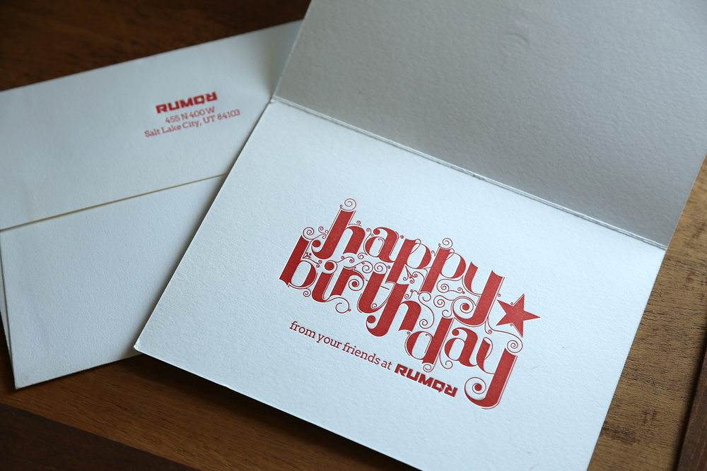 Rumor Advertising Birthday Card