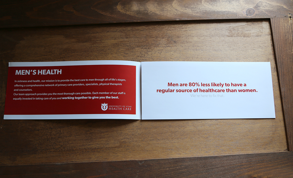 Men's Health Mailer for University of Utah Health Care
