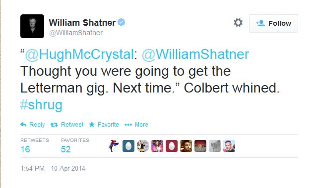 Shatner should've got the Letterman job.